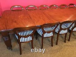 12ft Magnificent, 1831-1901, Grand English Victorian Cuban mahogany dining table