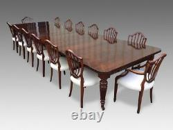 14.9ft Antique Grand Victorian Walnut dining table. 1831-1901