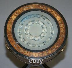 18th Century Louis XVI Bijouterie Vitrine Table Hand Etched Glass Gilt Metal