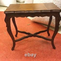 1930s Walnut Inlaid End Table