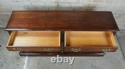 1977 Pennsylvania House Cherry Chippendale Style Console Sofa Table 56