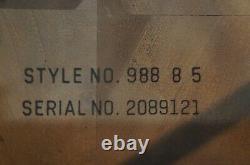 1980 Vintage Lane Altavista Chinese Chippendale Walnut End Side Table MCM 988