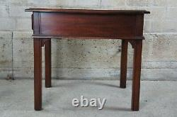 2 Vintage Chippendale Style Mahogany Side End Accent Tables Nightstands