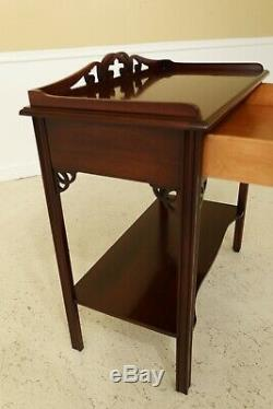 31788EC SALEM SQUARE 1 Drawer Mahogany Server Bar Table