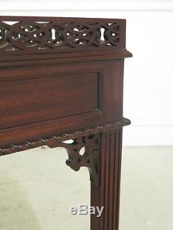 47339EC KITTINGER Chippendale Mahogany Pierced Fretwork Tea Table
