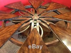 5 ft to 7.11 Amazing Sunburst Flame mahogany Jupe circular Grand dining table