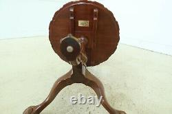 50622EC SUTTON Ball & Claw Chippendale Mahogany Piecrust Table