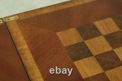 50886EC Quality Chippendale Mahogany Flip Top Games Table
