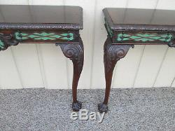 59004 Pair Chippendale Wall Shelf Console Table Stand