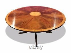 5ft Stunning Sunburst Flame mahogany circular Grand dining table