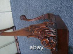 60517 Antique Mahogany Tray Top Coffee Table Stand