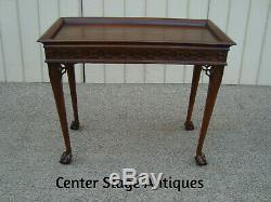 60570 Solid Mahogany WELLINGTON HALL Library Sofa Table Hall Stand
