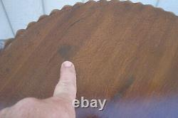 60888 Pair Solid Mahogany Lamp Table Stand End Table Nightstands