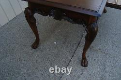61070 Solid Mahogany Executive Desk Library Table with drawer