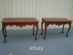 61352 Banded Mahogany Flip Top Dining Table with Claw feet
