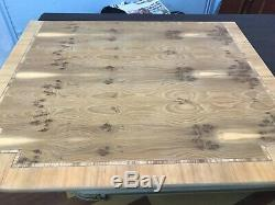 7.3ft Amazing Art Deco style Burr Yew tree dining table Pro French polished