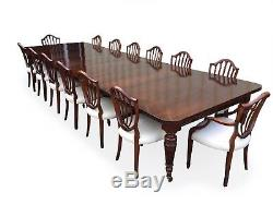 Amazing 14.9ft Antique Grand Victorian Walnut dining table. 1831-1901