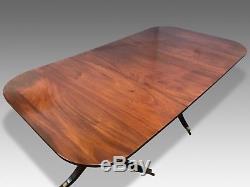 Amazing Antique George III Cuban Mahogany Table Professionally French Polished