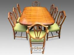 Amazing Designer Art Deco style Burr Yew tree dining set pro French Polished
