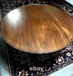 Ant. 18th Century Philadelphia Mahog Birdcage Queen Anne Dish Top Tea Table c1770