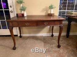 Antique 20th century Chicago Public Library Chippendale Style Table (desk)