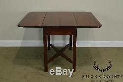 Antique Early 19th Century Country Chippendale Style Drop Leaf Table