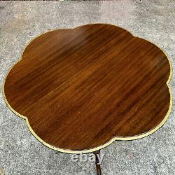 Antique English Chippendale Carved Mahogany Clover Top Table