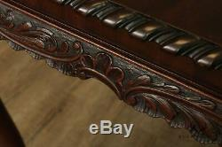 Antique Georgian Carved Mahogany Ball and Claw 64 Console Table
