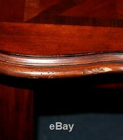 Antique Parquetry Mahogany Foyer Console Table