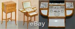 Art Deco George Betjemann & Sons Metamorphic Dressing Table Sterling Silver Set