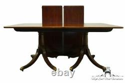 BAKER FURNITURE Solid Mahogany Traditional Chippendale 103 Double Pedestal D