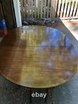 Baker FurnIture Chippendale Banded Extendable Dining Table, vintage
