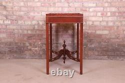 Baker Furniture Historic Charleston Collection Carved Mahogany Tea Table
