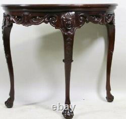 Baker Furniture Stately Homes Collection Mahogany Irish Demilune Table