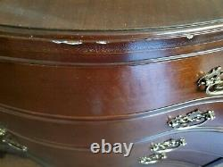 Baker Historic Charleston Collection Mahogany Chippendale Style Serpentine Chest