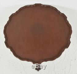 Baker Mahogany Chippendale Tray Tilt Top Tea Table Occasion Table Claw & Ball