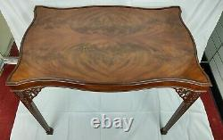 Baker Stately Homes Collection Flame Mahogany Carved Marlborough Tea Table