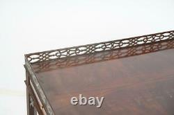 Baker Williamsburg Collection Mahogany Chippendale Tea Table Silver Table Rare