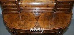 Beautiful Burr & Quarter Cut Walnut Antique Victorian Dressing Table Inc Mirror
