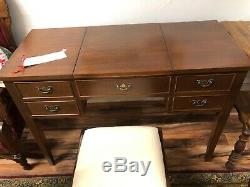 Beautiful and Rare Vintage Craftique Dressing Table with Matching Stool