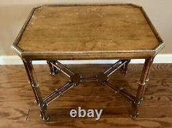 Brandt Furniture Embassy Collection Faux Bamboo Asian Inspired Side Accent Table