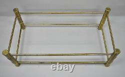 Brass Faux Bamboo Chinese Chippendale Coffee Table Base Attr. Mastercraft