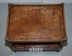 Burr Walnut Large Side Or Occasional Lamp End Wine Table Butlers Serving Tray