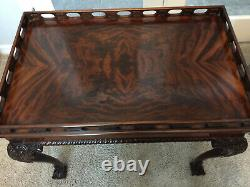 COUNCILL CRAFTSMEN Ball & Claw Chippendale Mahogany China Tea Table