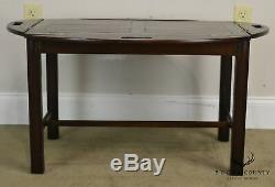Chippendale Antique 19th Century English Mahogany Butlers Coffee Table