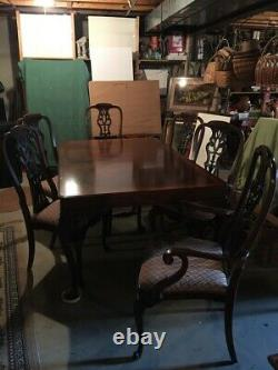 Chippendale Dining Room Table Set Includes six chairs and 5 leaves