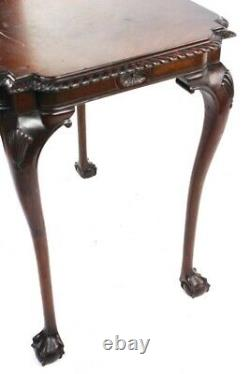 Chippendale Mahogany Occasional Table with Ball and Claw Feet 5822