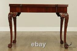 Chippendale Style Custom Quality Mahogany Game Table