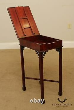 Chippendale Style Mahogany Side Table, Lift Top