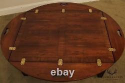Chippendale Style Mahogany & Yew Wood Butlers Coffee Table
